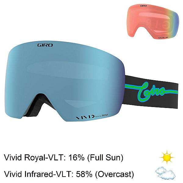 Giro Contour Goggles, Blue Neon Lights-Vivid Royal + Bonus Lens, 600