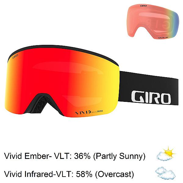Giro Axis Goggles 2022, Black Wordmark-Vivid Ember + Bonus Lens, 600