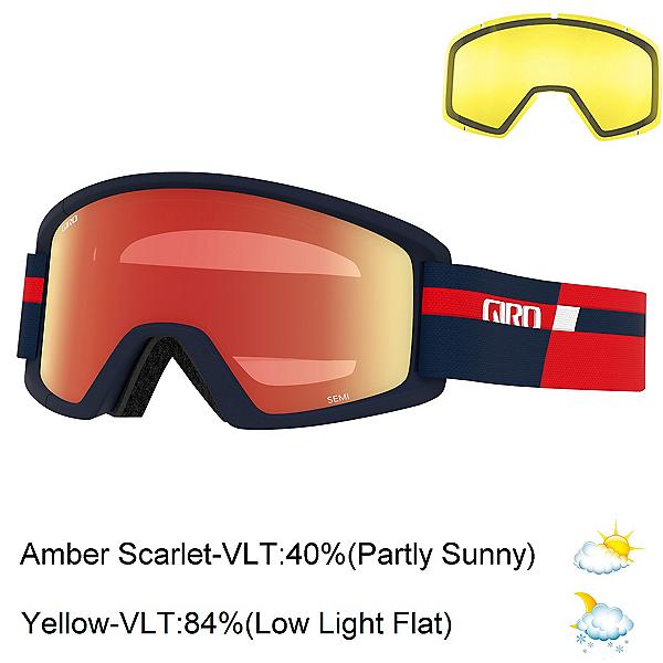 Giro Semi Goggles 2022, Red Midnight Podium-Amber Scar + Bonus Lens, 600