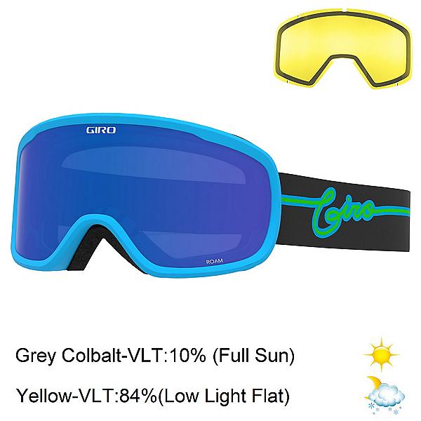 Giro Roam Goggles, Blue Neon Lights-Grey Cobalt + Bonus Lens, 600