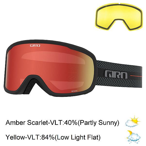 Giro Roam Goggles 2022, Black Techline-Amber Scarlet + Bonus Lens, 600