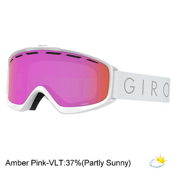 Giro Index OTG Goggles, White Core Light-Amber Pink, 600