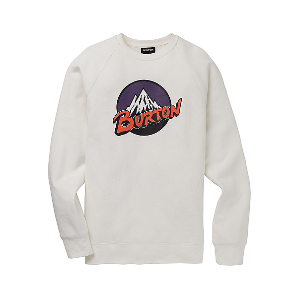 Burton Retro MTN Crew Long Sleeve Shirt, Stout White, 600