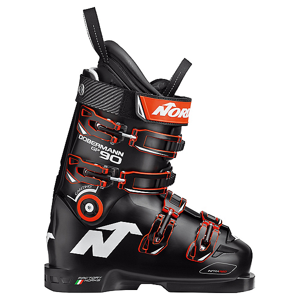 Nordica Dobermann GP 90 Junior Race Ski Boots 2020, Black, 600