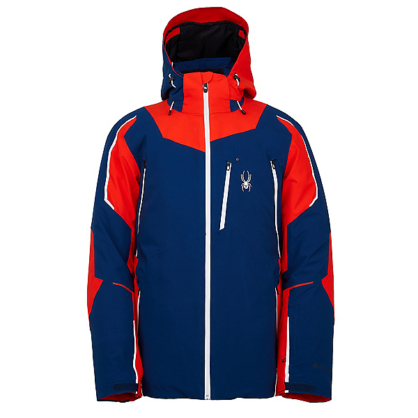Spyder Leader GTX Mens Insulated Ski Jacket, Abyss-Volcano, 600