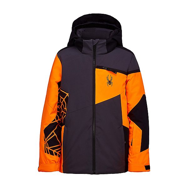 Spyder Challenger Boys Ski Jacket, Ebony, 600