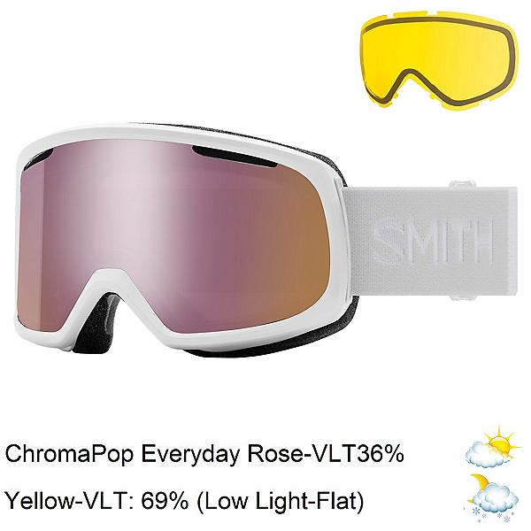 Smith Riot Womens Goggles, White Vapor-Chromapop Everyday + Bonus Lens, 600