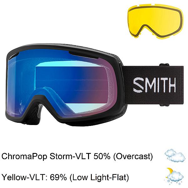 Smith Riot Womens Goggles 2022, Black-Chromapop Storm Rose Fla + Bonus Lens, 600