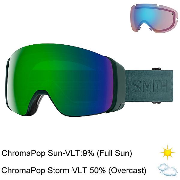 Smith 4D Mag Goggles, Spruce Flood-Chromapop Sun Gre + Bonus Lens, 600