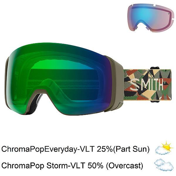 Smith 4D Mag Goggles 2022, Alder Geo Camo-Chromapop Everyday Green + Bonus Lens, 600
