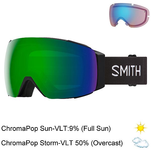 Smith I/O Mag Goggles, Black-Chromapop Sun Green Mirr + Bonus Lens, 600