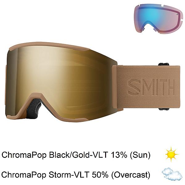 Smith Squad Mag Goggles, Safari Flood-Chromapop Sun Bla + Bonus Lens, 600