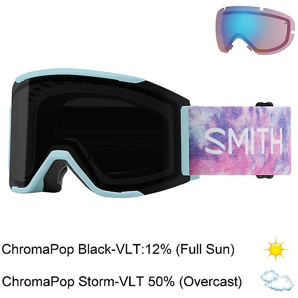 Smith Squad Mag Goggles, Polar Tie Dye-Chromapop Sun Bl + Bonus Lens, 600