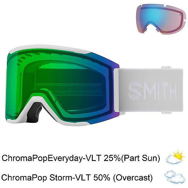 Smith Squad Mag Goggles 2022, White Vapor-Chromapop Everyday + Bonus Lens, 600