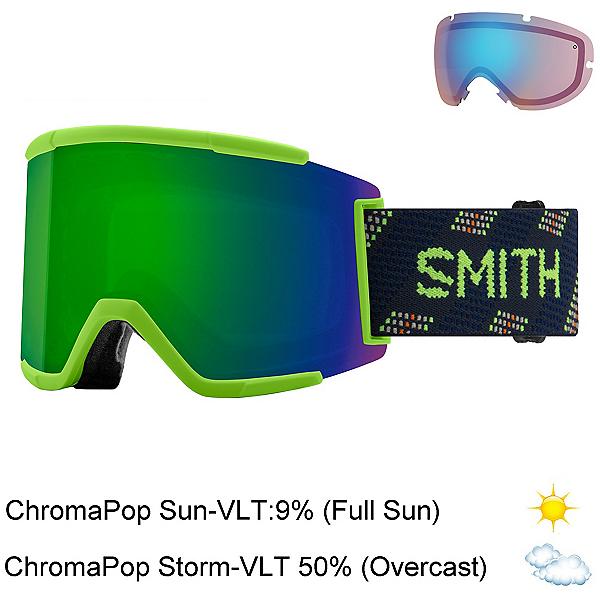 Smith Squad XL Goggles, Limelight Anchor-Chromapop Sun + Bonus Lens, 600