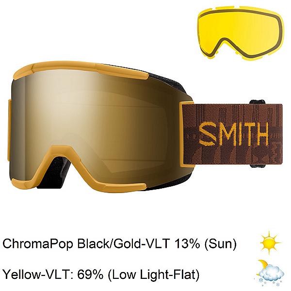 Smith Squad Goggles, Amber Textile-Chromapop Sun Bl + Bonus Lens, 600