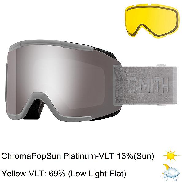 Smith Squad Goggles, Cloudgrey-Chromapop Sun Platin + Bonus Lens, 600
