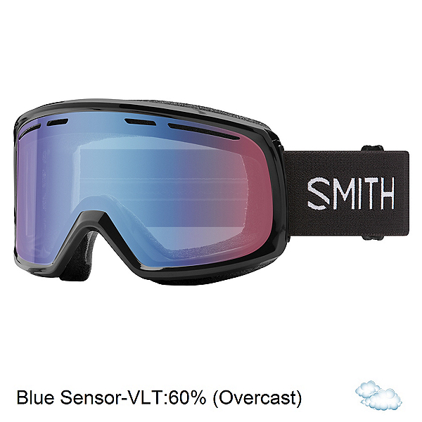 Smith Range Goggles, Black-Blue Sensor Mirror, 600