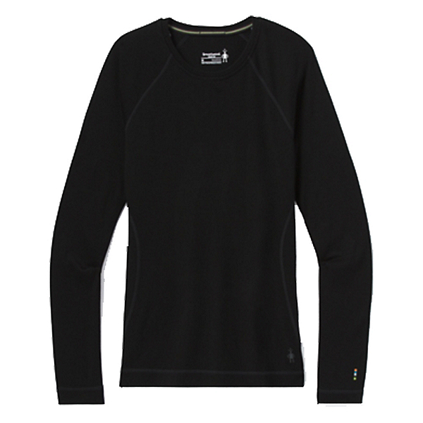 SmartWool Merino 250 Baselayer Crew Womens Long Underwear Top, Black, 600