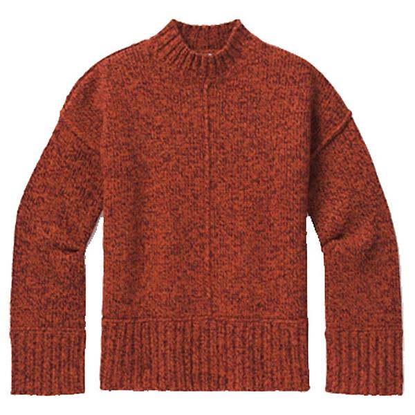 SmartWool Bell Meadow Womens Sweater, Woodsmoke-Ginger Heather Marl, 600
