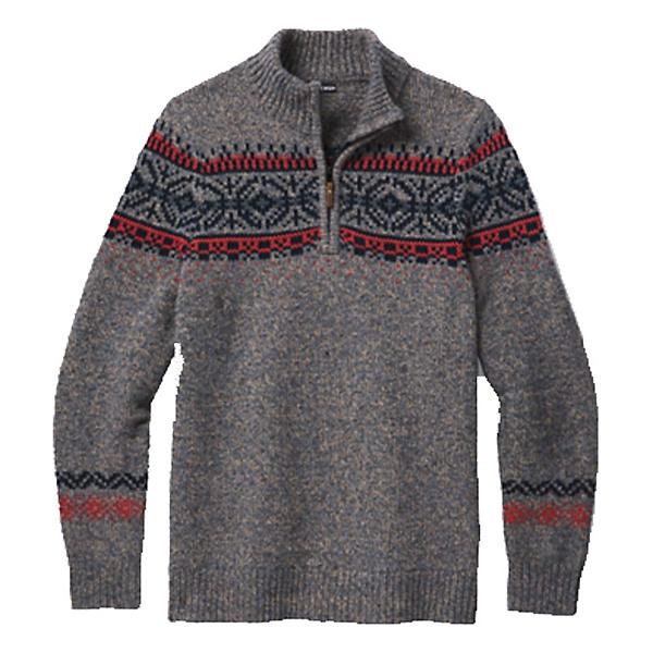 SmartWool  Mens Sweater, Camel Heather-Medium Gray Heat, 600
