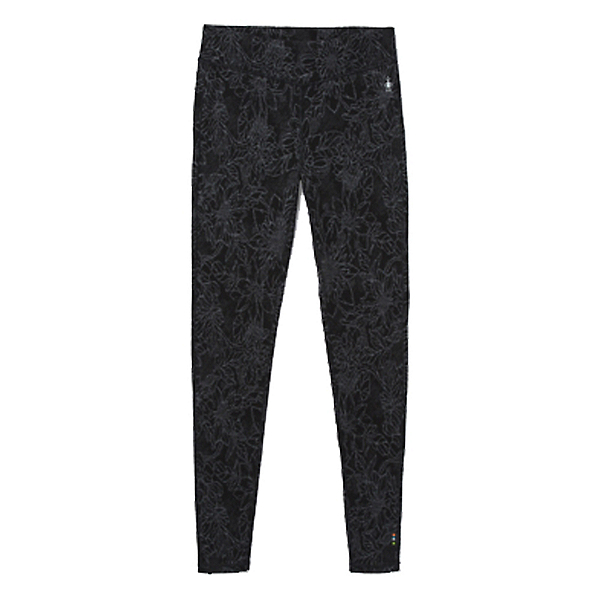 SmartWool Merino 250 Baselayer Pattern Womens Long Underwear Pants, Black Traced Dahlia, 600