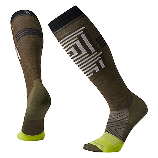 SmartWool PhD Pro Freeski Ski Socks, Military Olive, 600