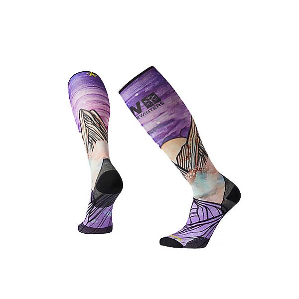 SmartWool PhD Ski Ultra Light POW Print Ski Socks, Multi, 600