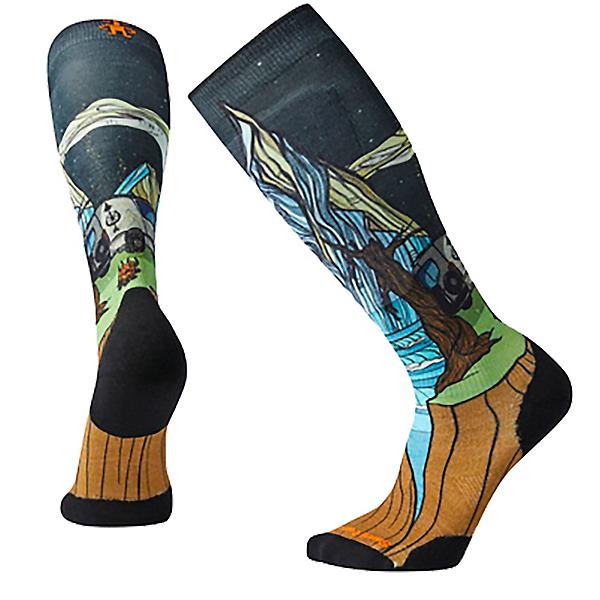 SmartWool PhD Ski Light Elite Benchetler Print Ski Socks, Multi, 600