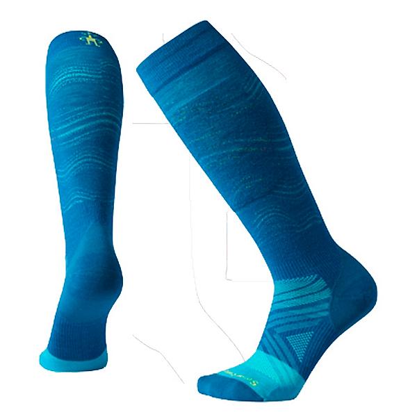 SmartWool PhD Pro Ski Race Womens Ski Socks, Ocean Abyss, 600