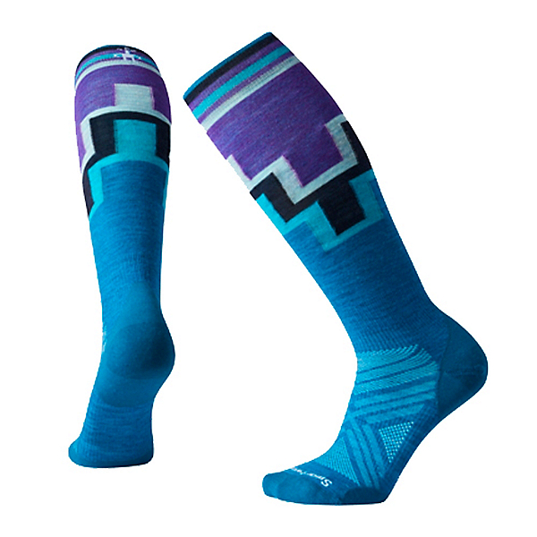 SmartWool PhD Ski Ultra Light Pattern Womens Ski Socks, , 600