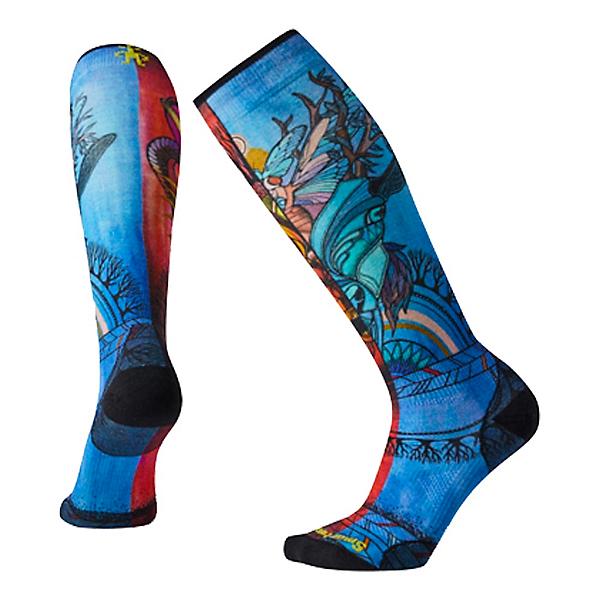 SmartWool PhD Ski Ultra Light Print Womens Socks, Multi, 600