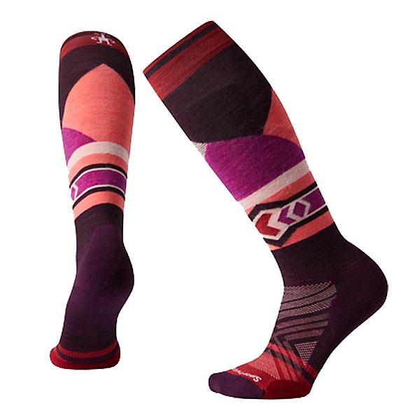 SmartWool PHD Ski LE Pattern Womens Ski Socks, Bordeaux, 600