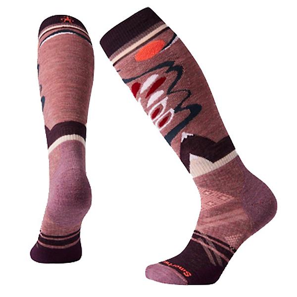 SmartWool PhD Ski Medium Pattern Womens Ski Socks, Nostalgia Rose, 600