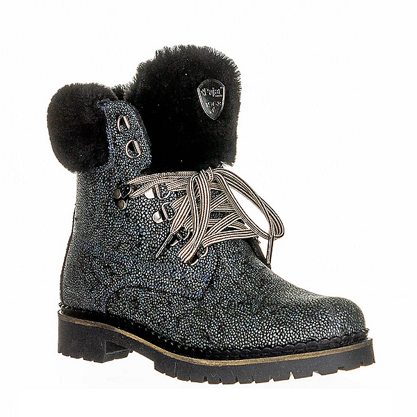 Pajar Alissa Black Pearl Womens Boots, White-Black Shearling, 600