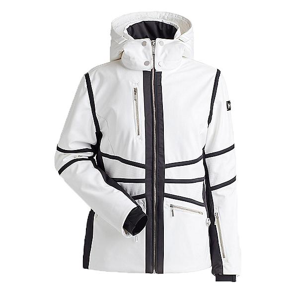 NILS Carina Womens Insulated Ski Jacket, White-Black, 600