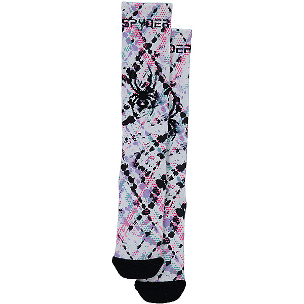 Spyder Peak Girls Ski Socks, Impress Print, 600