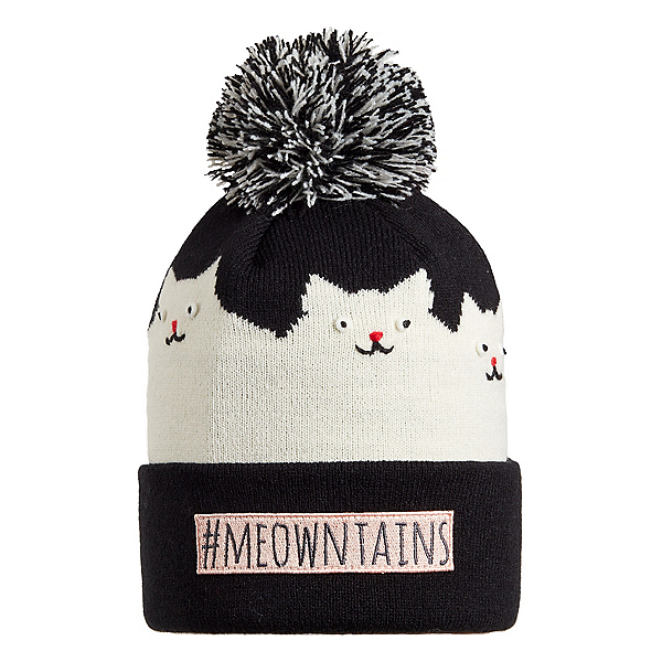 Turtle Fur Meowtains Kids Hat, Black, 600