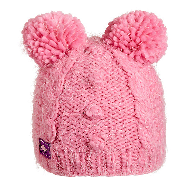 Turtle Fur Fluff Balls Kids Hat, Bubble Gum, 600