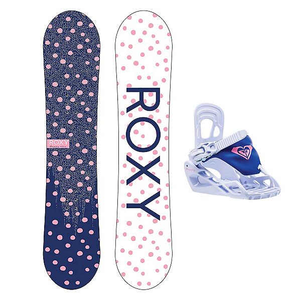 Roxy Poppy Girls Snowboard Package, , 600