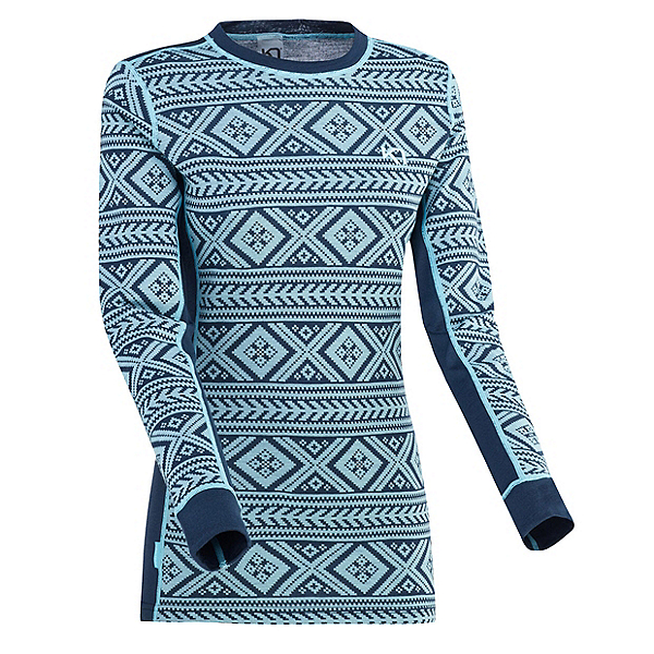 Kari Traa Floke Long Sleeve Womens Long Underwear Top, Marin, 600