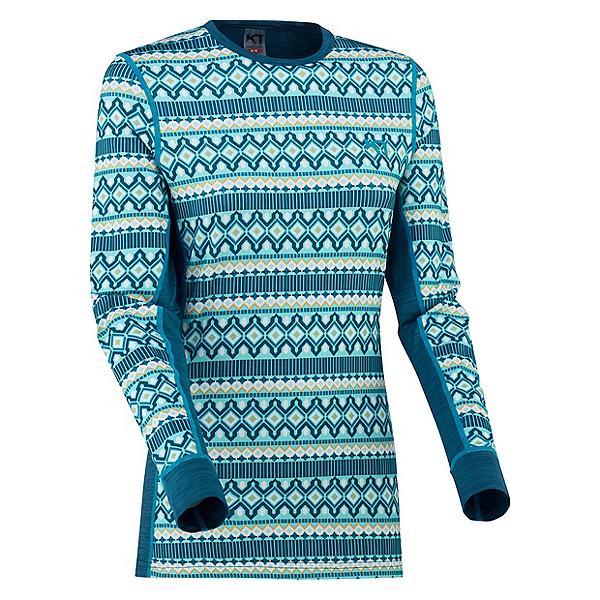 Kari Traa Lune Long Sleeve Womens Long Underwear Top, Ocean, 600