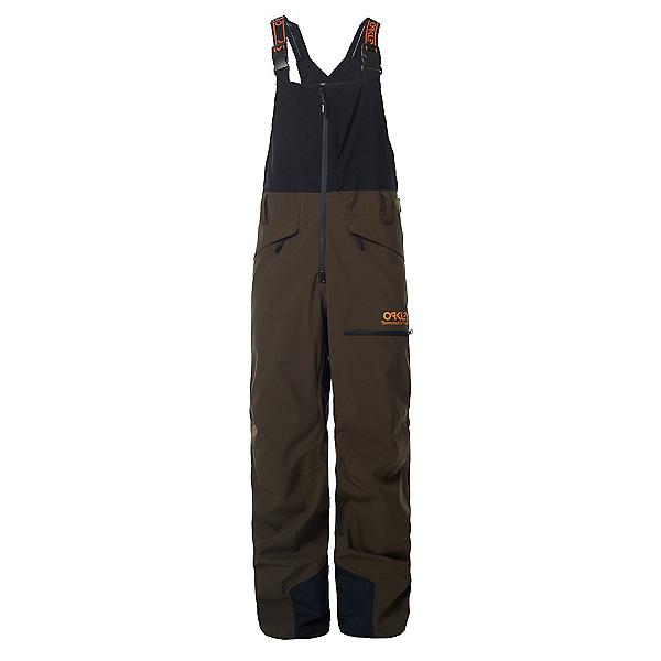 Oakley TNP Shell Bib Mens Ski Pants, Black-Green, 600