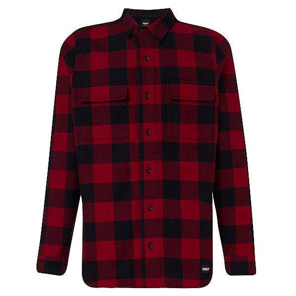 Oakley Podium Long Sleeve Flannel Shirt, Sundried Tomatoe, 600