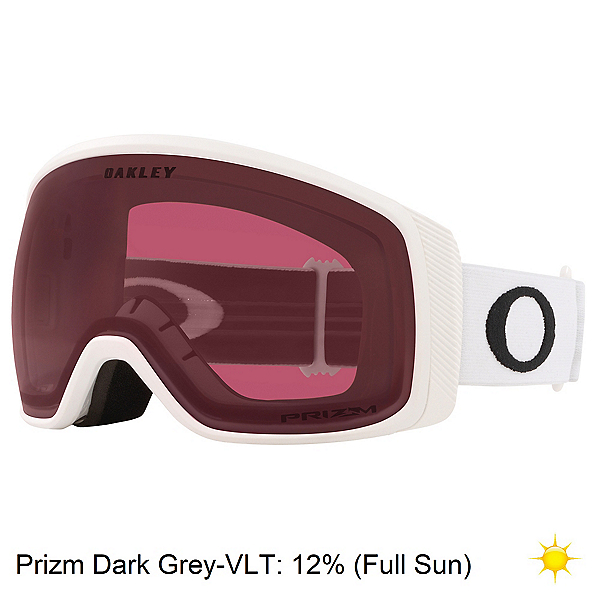 Oakley Flight Tracker XM Goggles, Matte White-Prizm Dark Grey, 600
