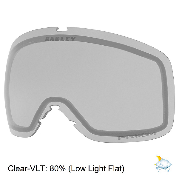 Oakley Flight Tracker XL Goggle Replacement Lens, Clear, 600