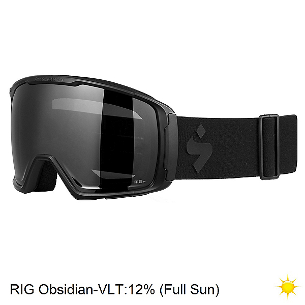 Sweet Protection Clockwork Max RIG Reflect Goggles, Matte Black-Rig Obsidian, 600
