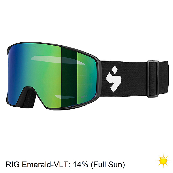 Sweet Protection Boondock RIG Reflect Goggles, Matte Black-Rig Emerald, 600
