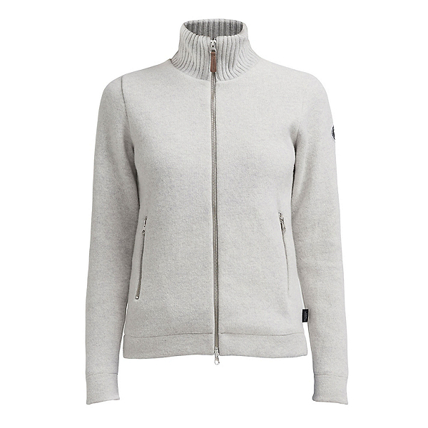 HOLEBROOK Claire Full Zip Windproof Womens Sweater 2022, Light Grey Melange, 600