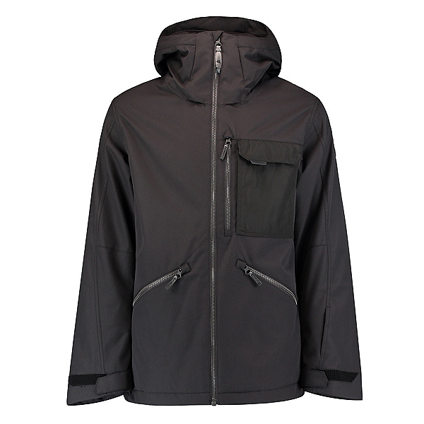 O'Neill Utility Mens Insulated Snowboard Jacket, Black Out, 600